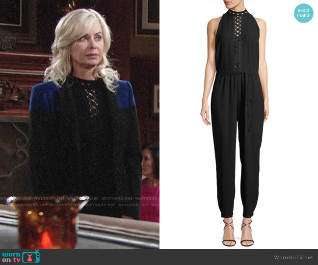 Elie Tahari Shaunda Jumpsuit worn by Ashley Abbott (Eileen Davidson) on The Young & the Restless