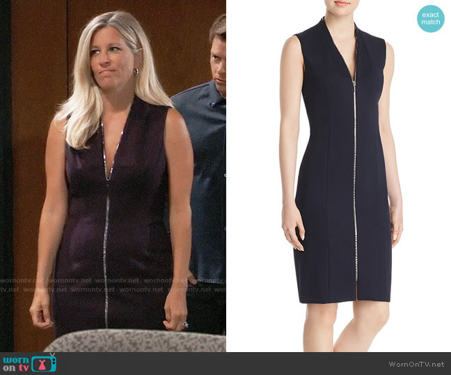 Elie Tahari Verdie Dress worn by Carly Corinthos (Laura Wright) on General Hospital