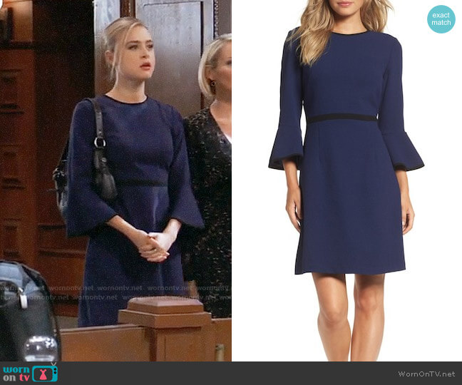 Eliza J Fit and Flare Dress worn by Hayley Erin on General Hospital