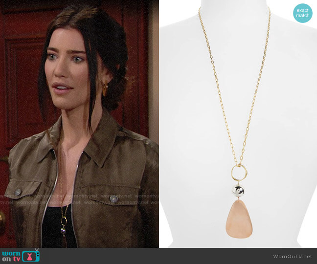 Elizabeth and James Tulum Pendant Necklace  worn by Jacqueline MacInnes Wood on The Bold & the Beautiful