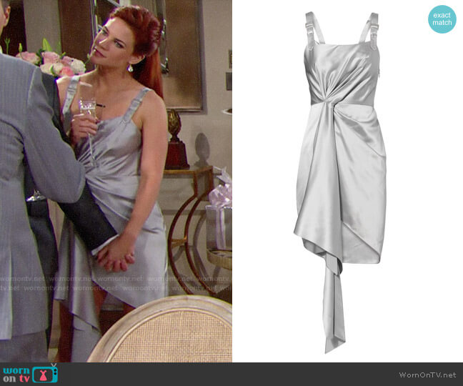 Fleur Du Mal Cascade Silver Dress worn by Courtney Hope on The Bold & the Beautiful