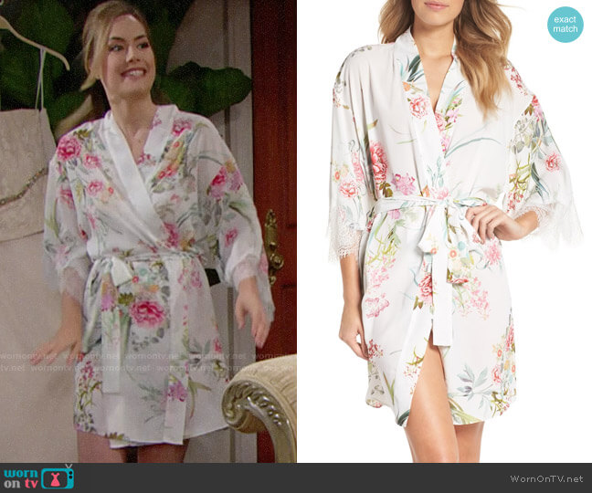 Flora Nikrooz Fiona Robe worn by Hope Logan (Annika Noelle) on The Bold & the Beautiful