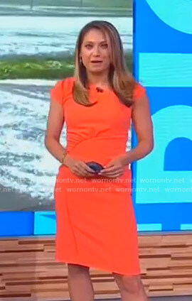 Ginger's orange gathered dress on Good Morning America