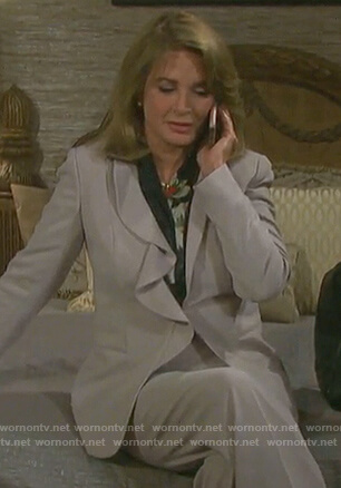 Marlena's grey ruffled blazer on Days of our Lives