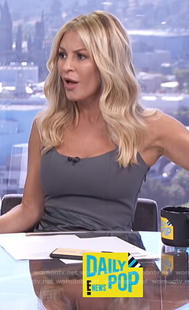 Morgan's gray tie waist mini dress on E! News