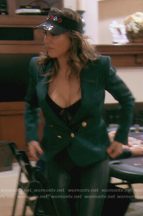 Kelly's green double breasted blazer on The Real Housewives of Orange County