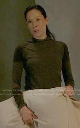 Joan's colorblock hooded top on Elementary