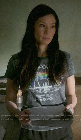 Joan's Palm Beach graphic tee on Elementary