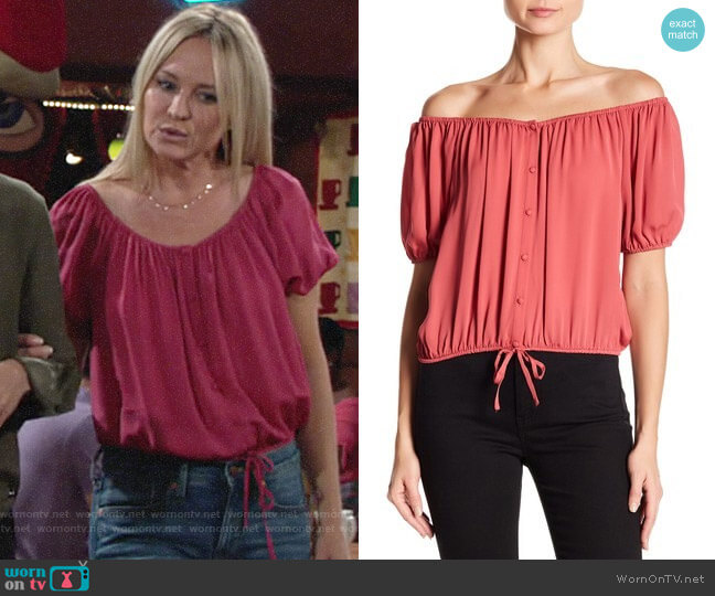Joie Blesina Top worn by Sharon Case on The Young & the Restless