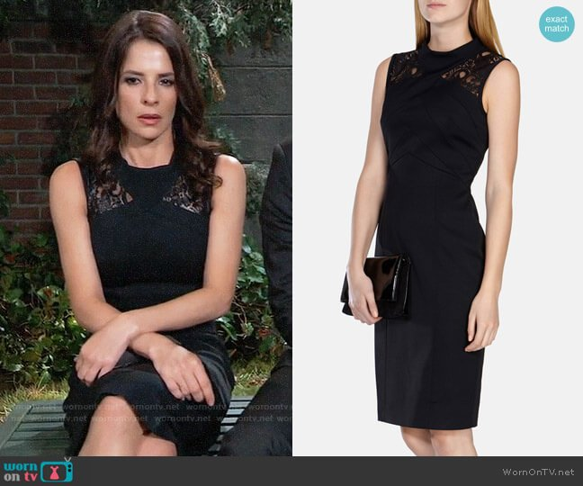 Karen Millen Lace Panelled Pencil Dress worn by Sam McCall (Kelly Monaco) on General Hospital
