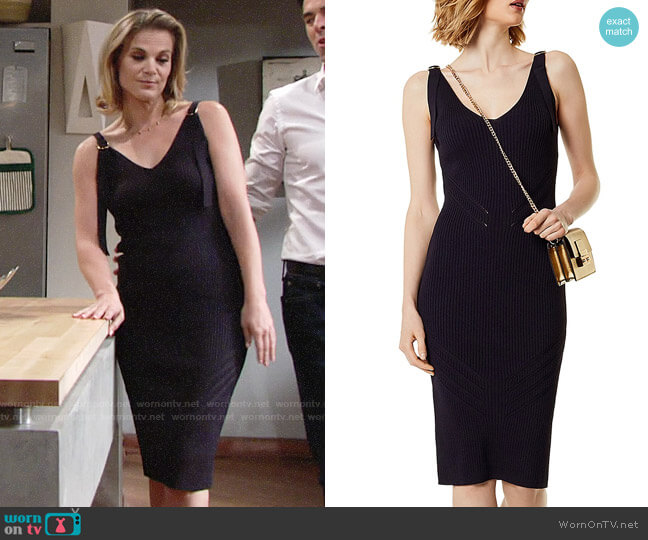 Karen Millen Rib-Knit Body-Con Dress worn by Gina Tognoni on The Young & the Restless