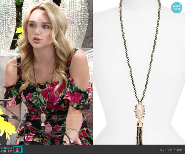 Kendra Scott Tatiana Necklace worn by Summer Newman (Hunter King) on The Young & the Restless