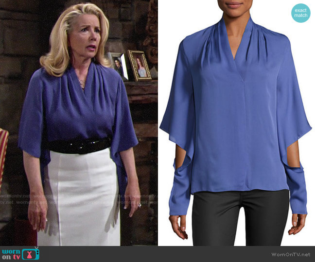 Kobi Halperin Edyn Blouse worn by Melody Thomas-Scott on The Young & the Restless