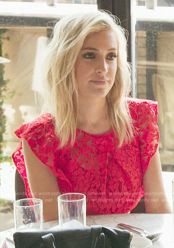 Kristin's red lace dress on Very Cavallari