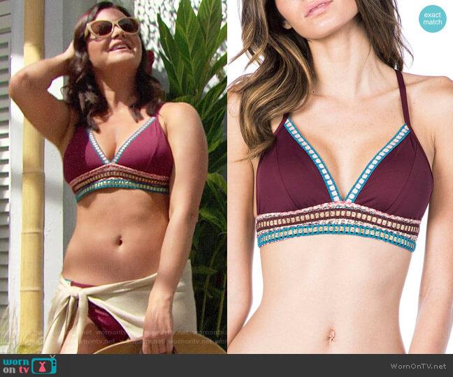 La Blanca Running Stitch Triangle Bikini worn by Heather Tom on The Bold & the Beautiful
