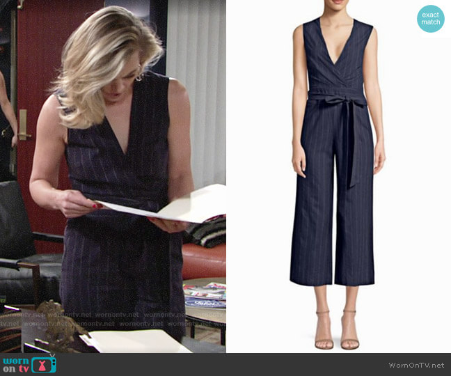 L'Agence Joslyn Jumpsuit worn by Gina Tognoni on The Young & the Restless