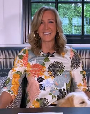 Lara's white floral top on Good Morning America