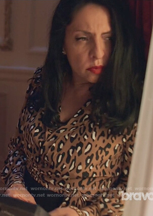 Camila's leopard print wrap top on Queen of the South