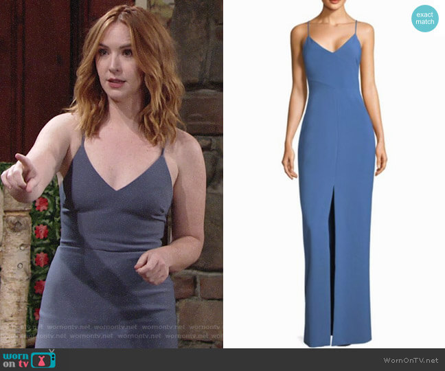 Likely Brooklyn Gown worn by Mariah Copeland (Camryn Grimes) on The Young & the Restless