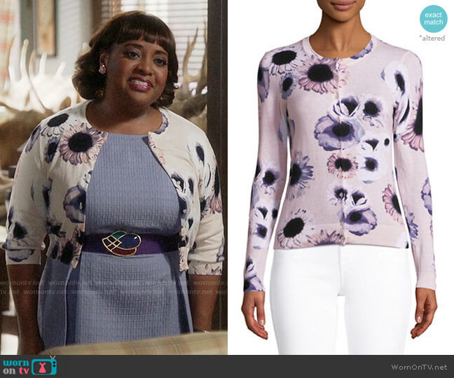 Lord & Taylor Floral Cotton Cardigan worn by Anne Flatch (Sherri Shepherd) on Trial & Error
