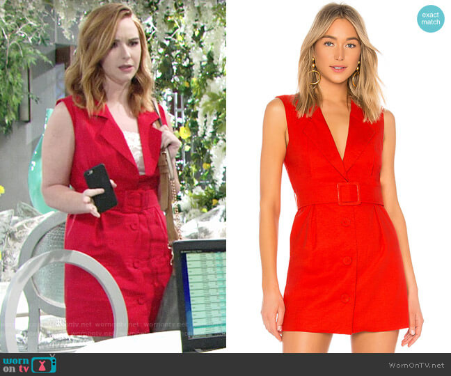 Lovers + Friends Raven Mini Blazer Dress worn by Mariah Copeland (Camryn Grimes) on The Young & the Restless