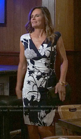 Lucy's navy and white floral dress on General Hospital