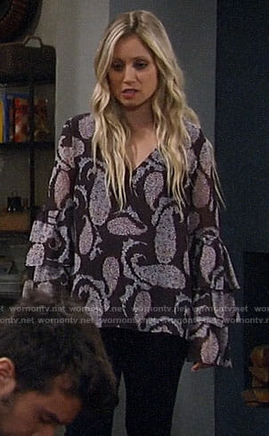Lulu's paisley blouse on General Hospital