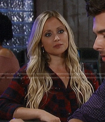 Lulu's studded plaid shirt on General Hospital