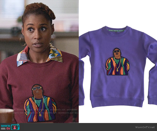 LyfestyleNYC Coogi BIG Sweatshirt worn by Issa Dee (Issa Rae) on Insecure