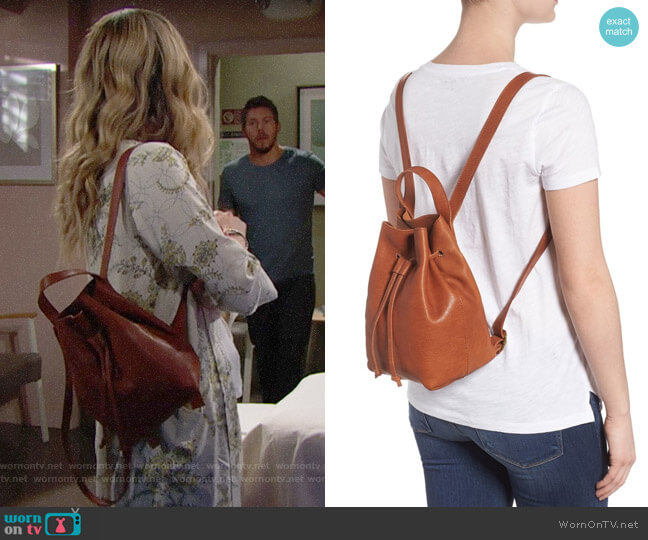 Madewell Somerset Backpack worn by Hope Logan (Annika Noelle) on The Bold & the Beautiful