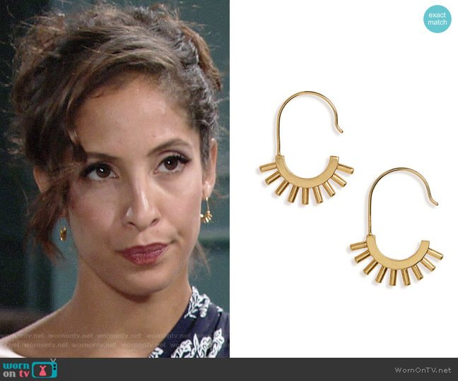 Madewell Succulent Drop Earrings worn by Lily Winters (Christel Khalil) on The Young & the Restless