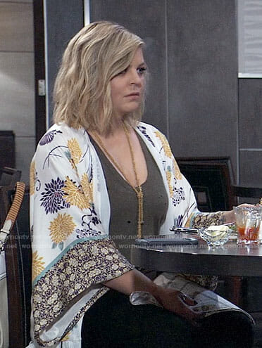 Maxie's floral kimono on General Hospital