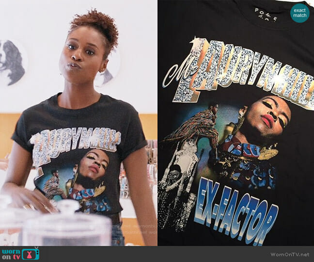 Melody Ehsani Lauryn Hill T-shirt worn by Issa Rae on Insecure