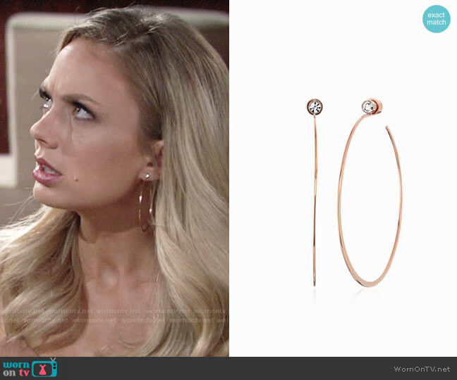 Michael Kors Modern Brilliance Hoop Earrings worn by Melissa Ordway on The Young & the Restless