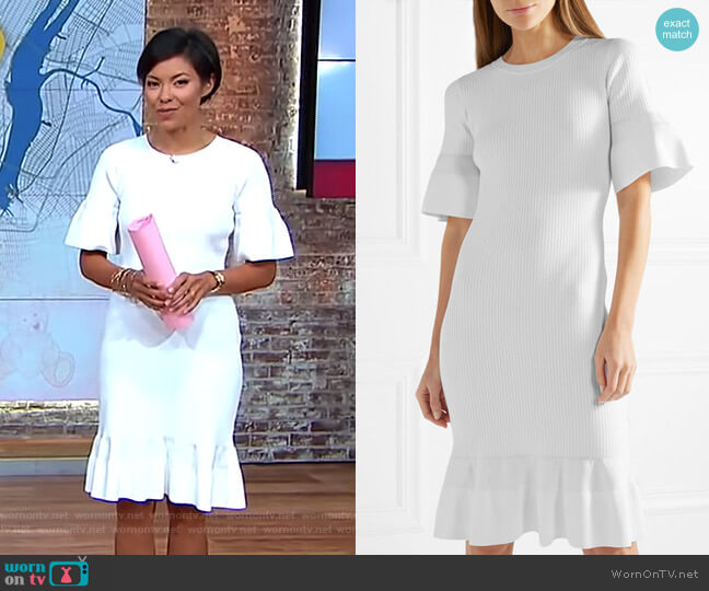 Ribbed-Knit Dress by Michael Michael Kors worn by Alex Wagner (Alex Wagner) on CBS This Morning