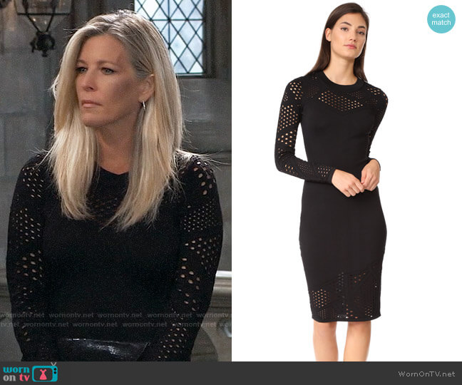 Milly Fractured Dress worn by Laura Wright on General Hospital