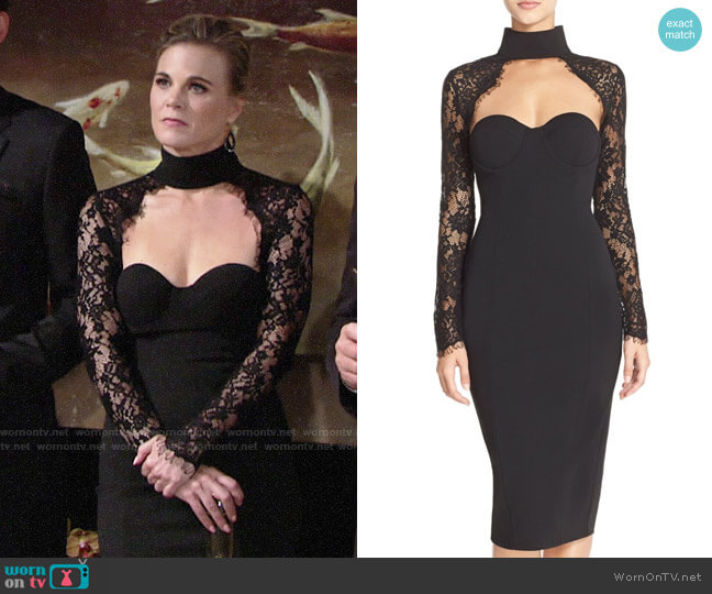 Misha Collection Carolena Dress worn by Phyllis Newman (Gina Tognoni) on The Young & the Restless