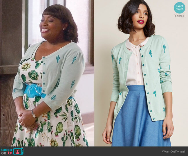 ModCloth Zest Believe It Cardigan worn by Sherri Shepherd on Trial & Error
