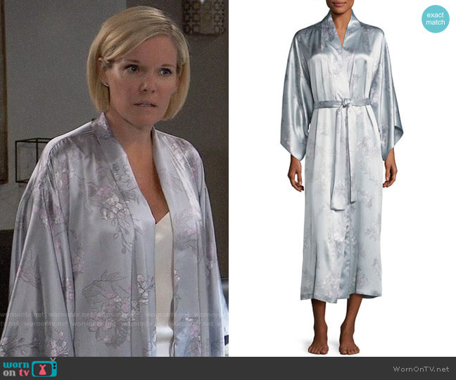 Natori Wisteria Robe worn by Ava Jerome (Maura West) on General Hospital