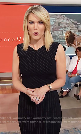 Megyn's navy pinstripe dress on Megyn Kelly Today