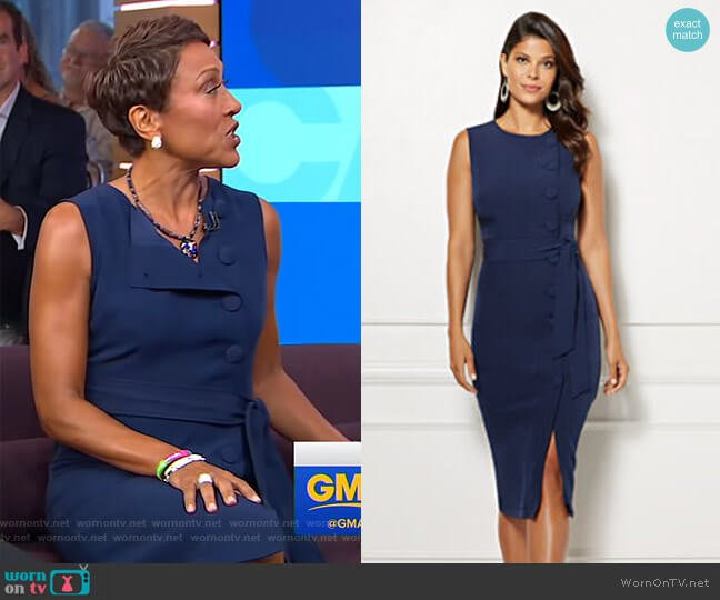 Emme Dress - Eva Mendes Collection by New York & Company worn by Robin Roberts (Robin Roberts) on Good Morning America