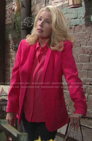 Nikki's pink blazer on The Young and the Restless