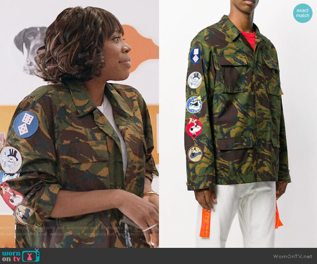 Off-White Camouflage Arrows Jacket worn by Molly Carter (Yvonne Orji) on Insecure