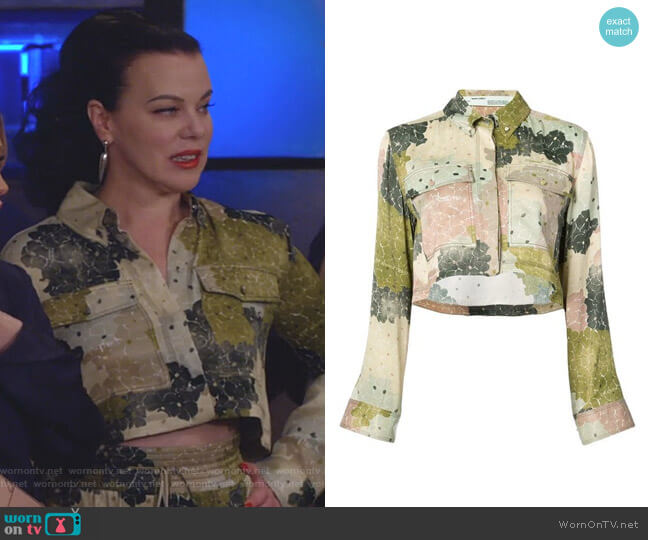 Floral Print Cropped Shirt by Off White worn by Debi Mazar on Younger