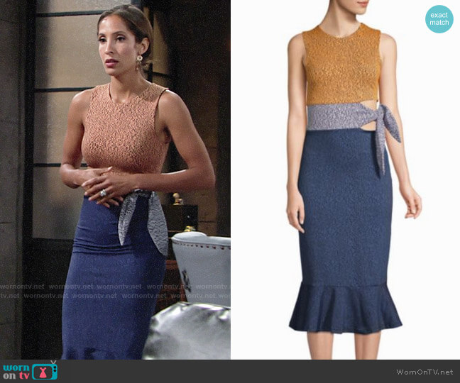 Opening Ceremony Tie Waist Lotus Dress worn by Lily Winters (Christel Khalil) on The Young & the Restless