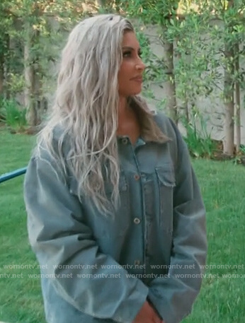Kim's oversized denim jacket on Keeping Up with the Kardashians