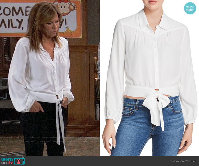 Paige Damaris Tie-Front Blouse worn by Alexis Davis (Nancy Lee Grahn) on General Hospital