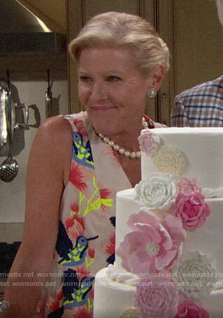 Pam's bird dress on The Bold and the Beautiful