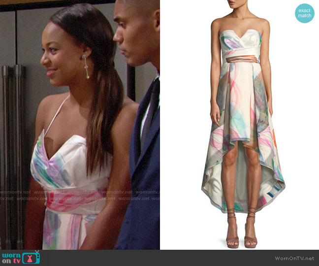 Parker Black Jada Dress worn by Nia Sioux on The Bold & the Beautiful