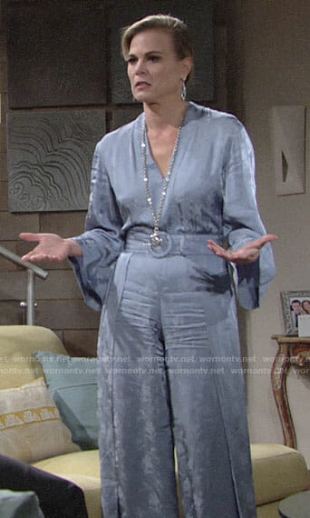 Phyllis's blue jumpsuit on The Young and the Restless